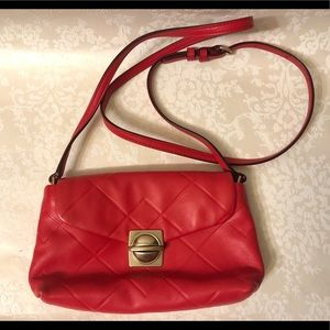 Marc Jacobs Red Square Scored Small Messenger Bag